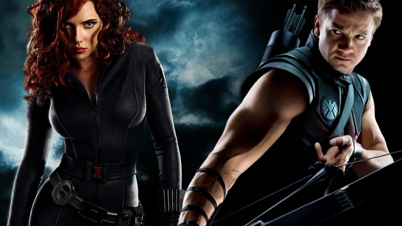 Black Widow in Iron Man 2 and Hawkeye in Avengers