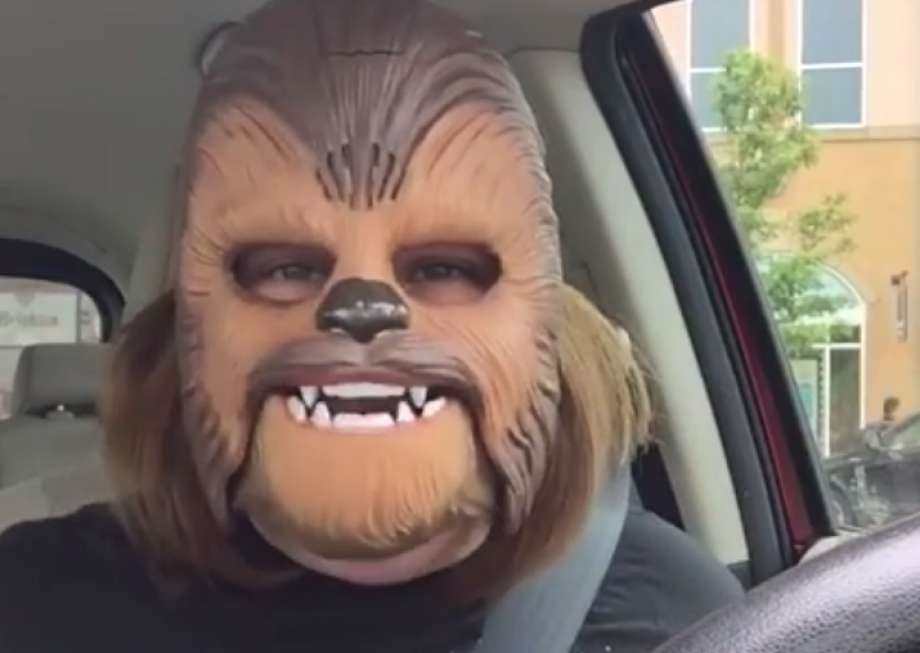 Facebook Live Record Broken by Mother Laughing in Chewbacca Mask