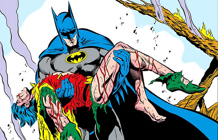 Death in the Family Batman carries Jason Todd's body