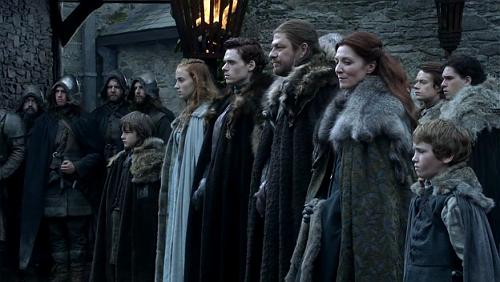 Stark Family at Winterfell Season 1