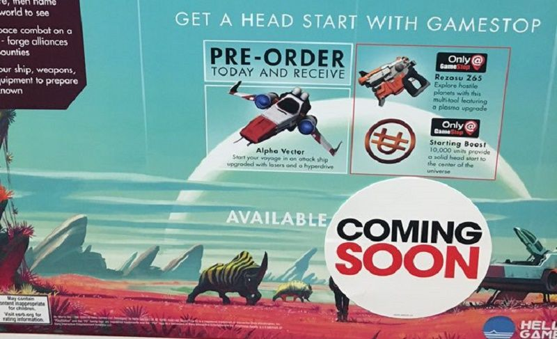 GameStop No Man's Sky coming soon