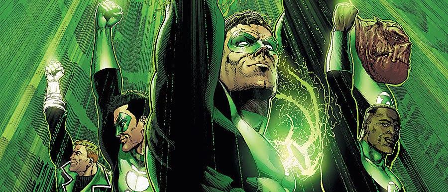 Rebirth Cover Green Lantern Hal, Guy, Kyle, John, Kilowog,