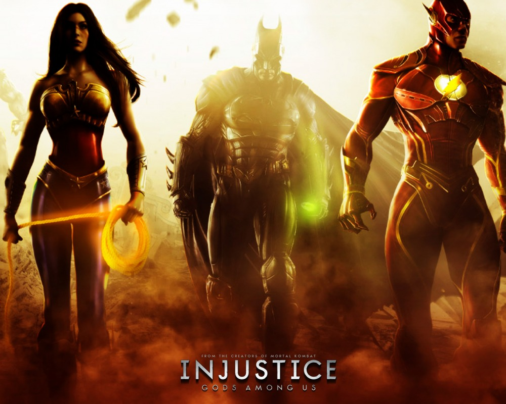 Injustice Gods Among Us Wonder Woman, Batman, Flash