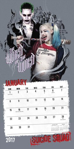 Joker and Harley in Suicide Squad calendar