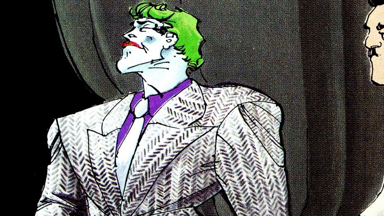 Joker in The Dark Knight Returns White Suit