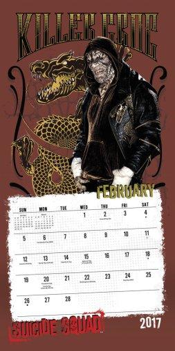 Killer Croc in Suicide Squad calendar