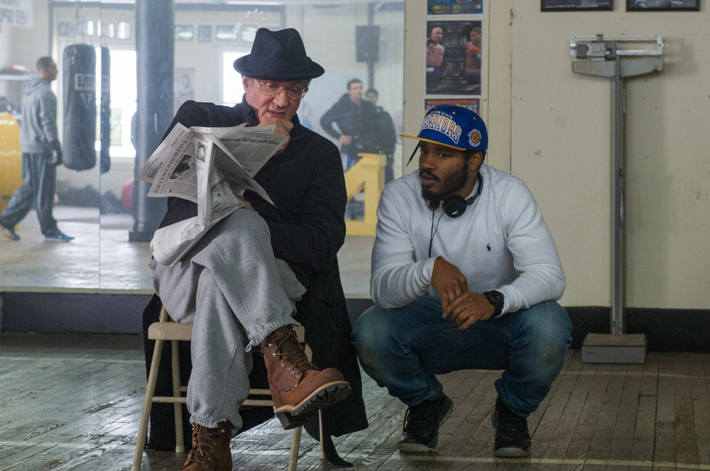 Ryan Coogler and Sylvester Stallone on Creed set