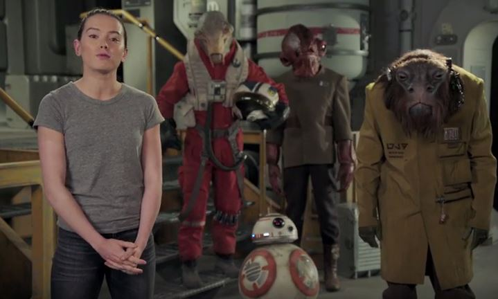 WATCH: Daisy Ridley Wishes Fans A Happy Star Wars Day
