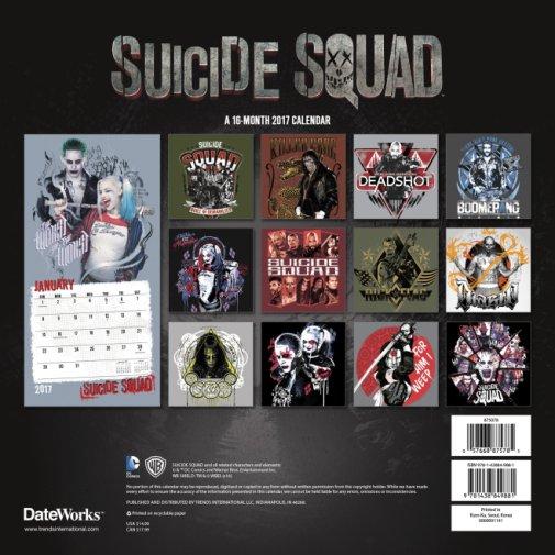 Suicide Squad calendar shots