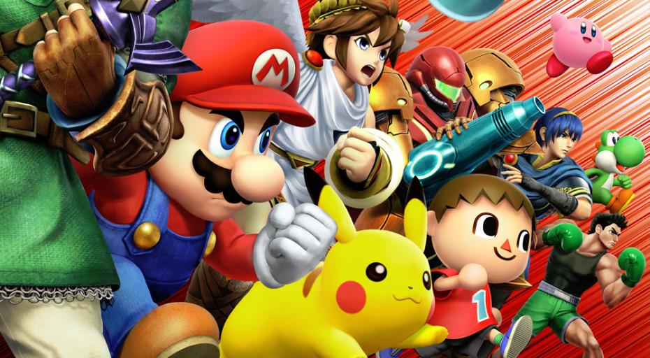 Super Smash Bros. art for 3DS handheld