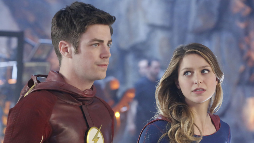 Supergirl and Flash Crossover at the DEO