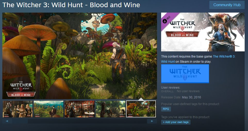 TW3 Blood and Wine Steam Store screenshot
