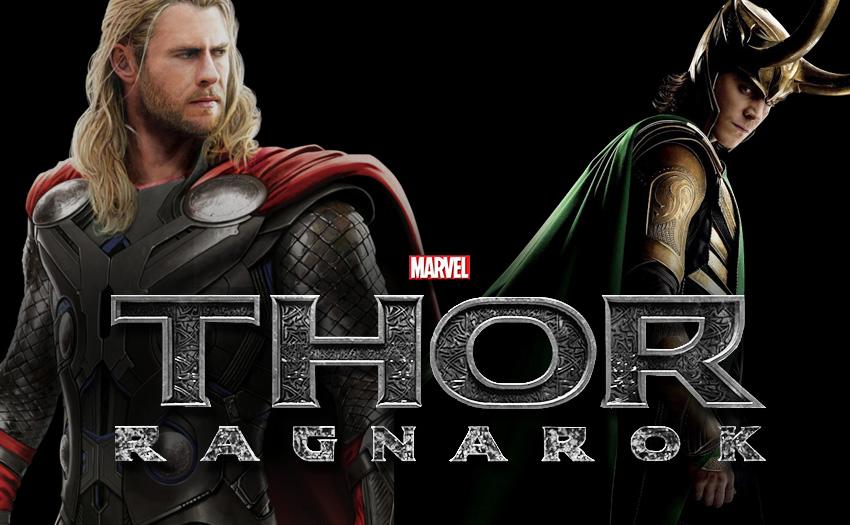 Chris Hemsworth Thor and Tom Hiddleston Loki Thor Ragnarok title