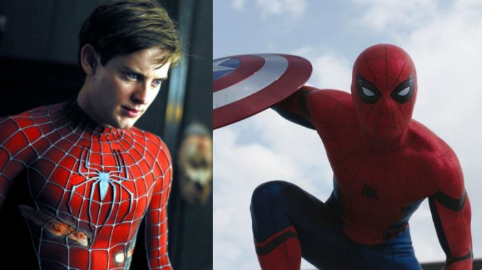 Tobey Maguire, Tom Holland, Spider-Man, Captain America: Civil War