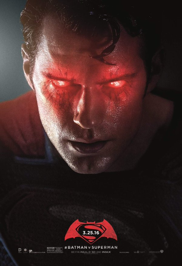 Unused Superman Batman v Superman Poster