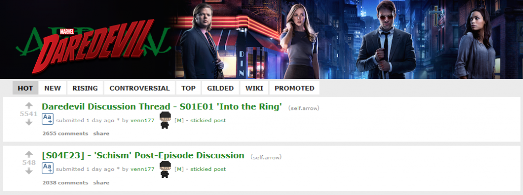 The Arrow subreddit after the finale