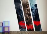 Batman V Superman and Wonder Woman wall decals from Wall-Ah!
