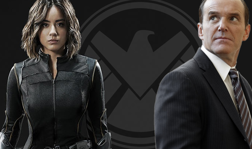 Chloe Bennet as Daisy Johnson and Clark Gregg as Phil Coulson Agents of SHIELD