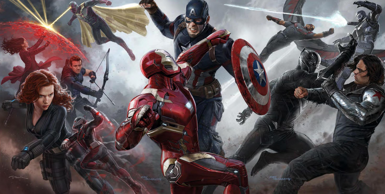 Civil War battle concept art
