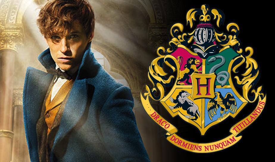 Eddie Redmayne Newt Scamanger Fantastic Beasts with Hogwarts Crest