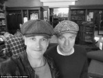Ewan McGregor and Johnny Lee Miller on the set of Trainspotting 2 Irish caps