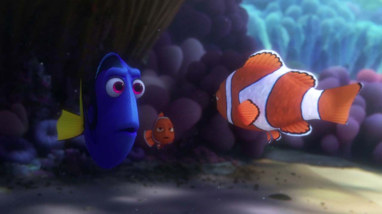 Dory and Nemo with Marlin