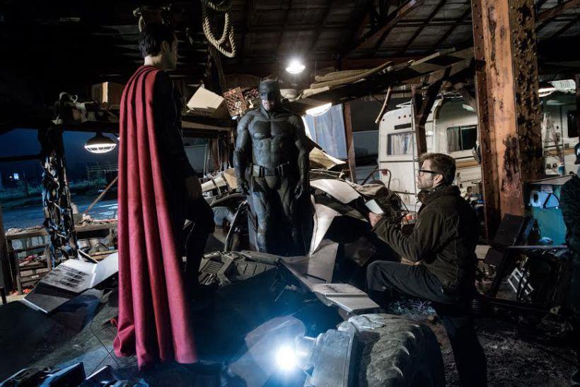 Batman Superman Zack Snyder BvS set
