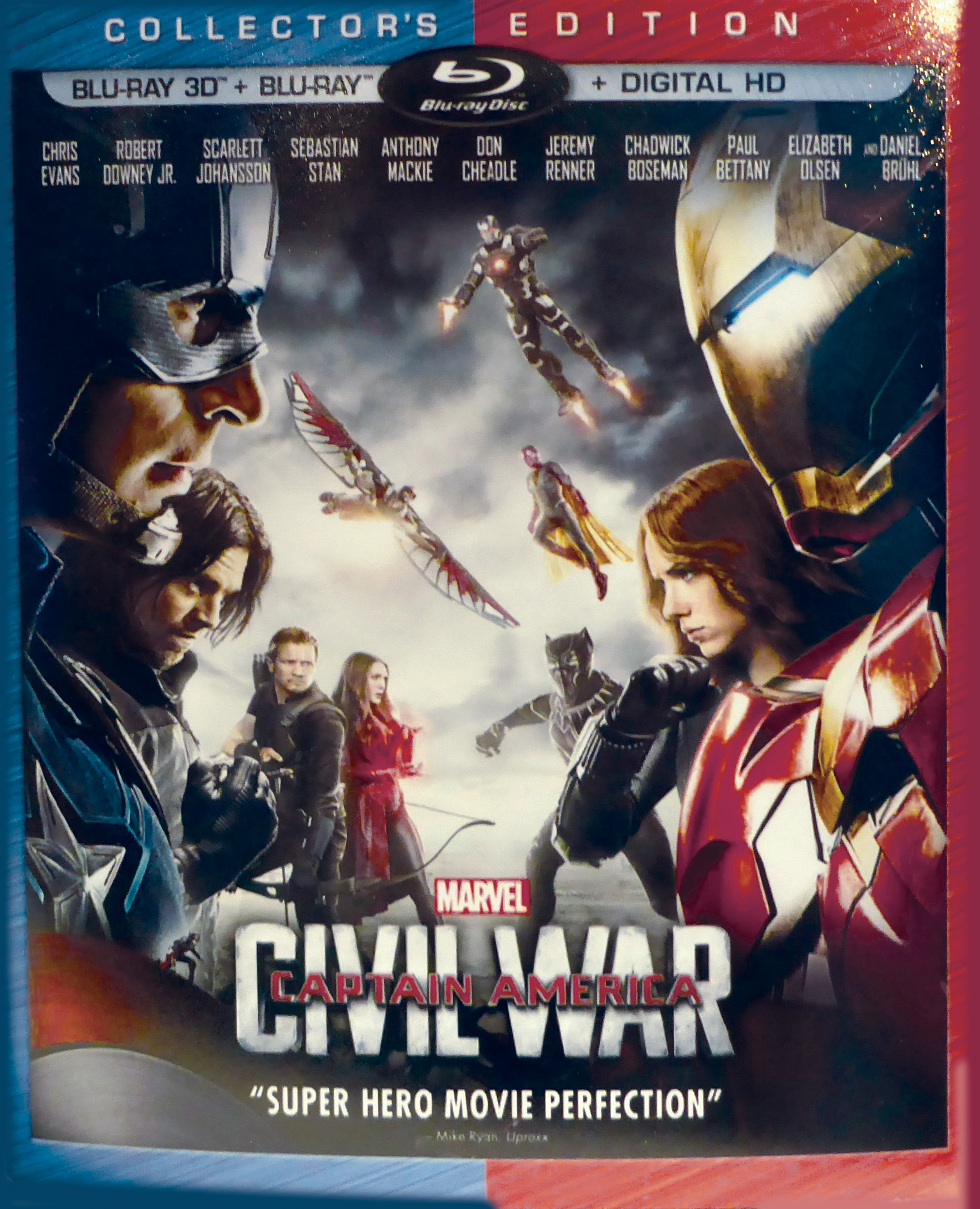 Captain America Civil War Collector's Edition Blu-ray DVD cover