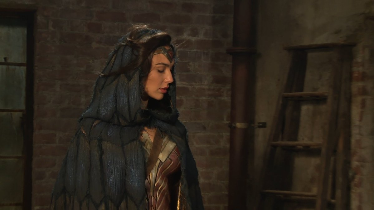 Cloaked Wonder Woman still