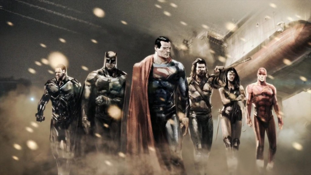 DCEU Justice league art via The CW
