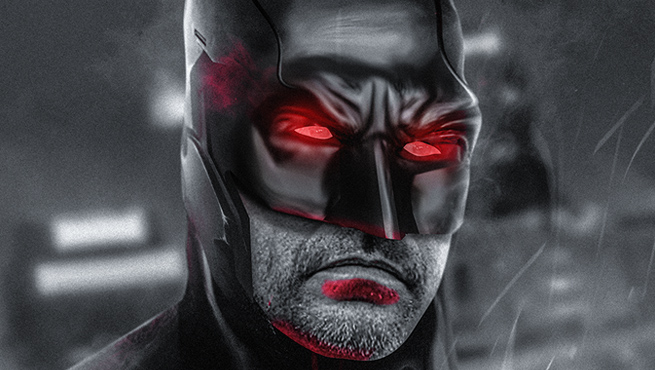 Jeffrey Dean Morgan Flashpoint Batman fan art