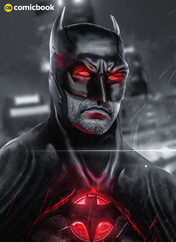 Jeffrey Dean Morgan as Flashpoint Batman fan art