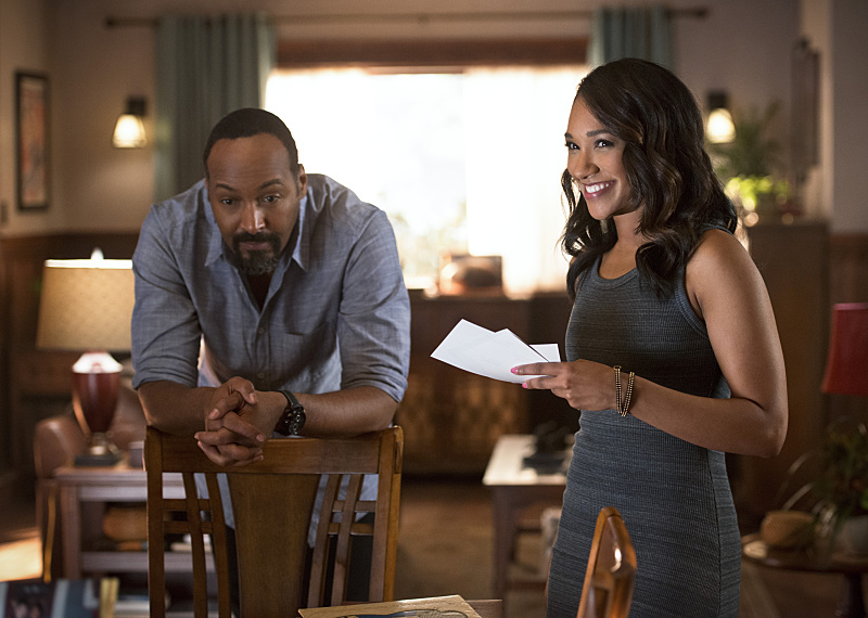 Jesse L. Martin and Candice Patton as Joe and Iris West