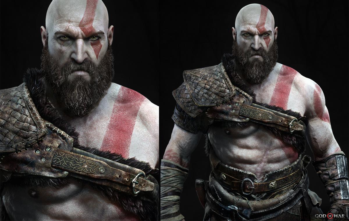 Kratos character render