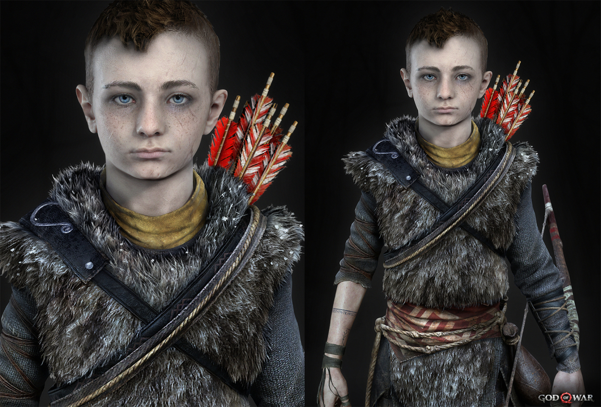 Kratos' son character render