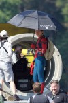 Tom Holland as Spider-Man on set of Homecoming