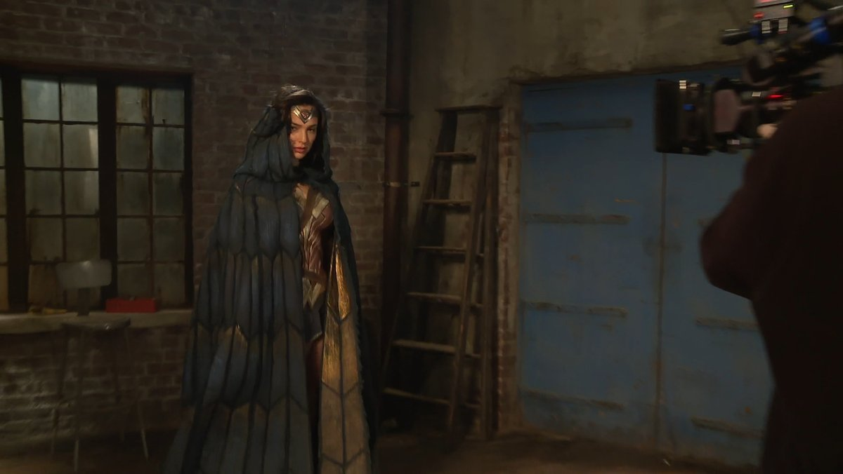 Wonder Woman cloaked behind the scenes image