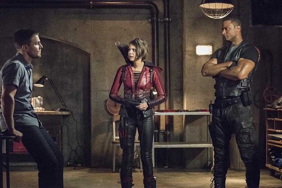 ollie, thea, diggle arrow season 4