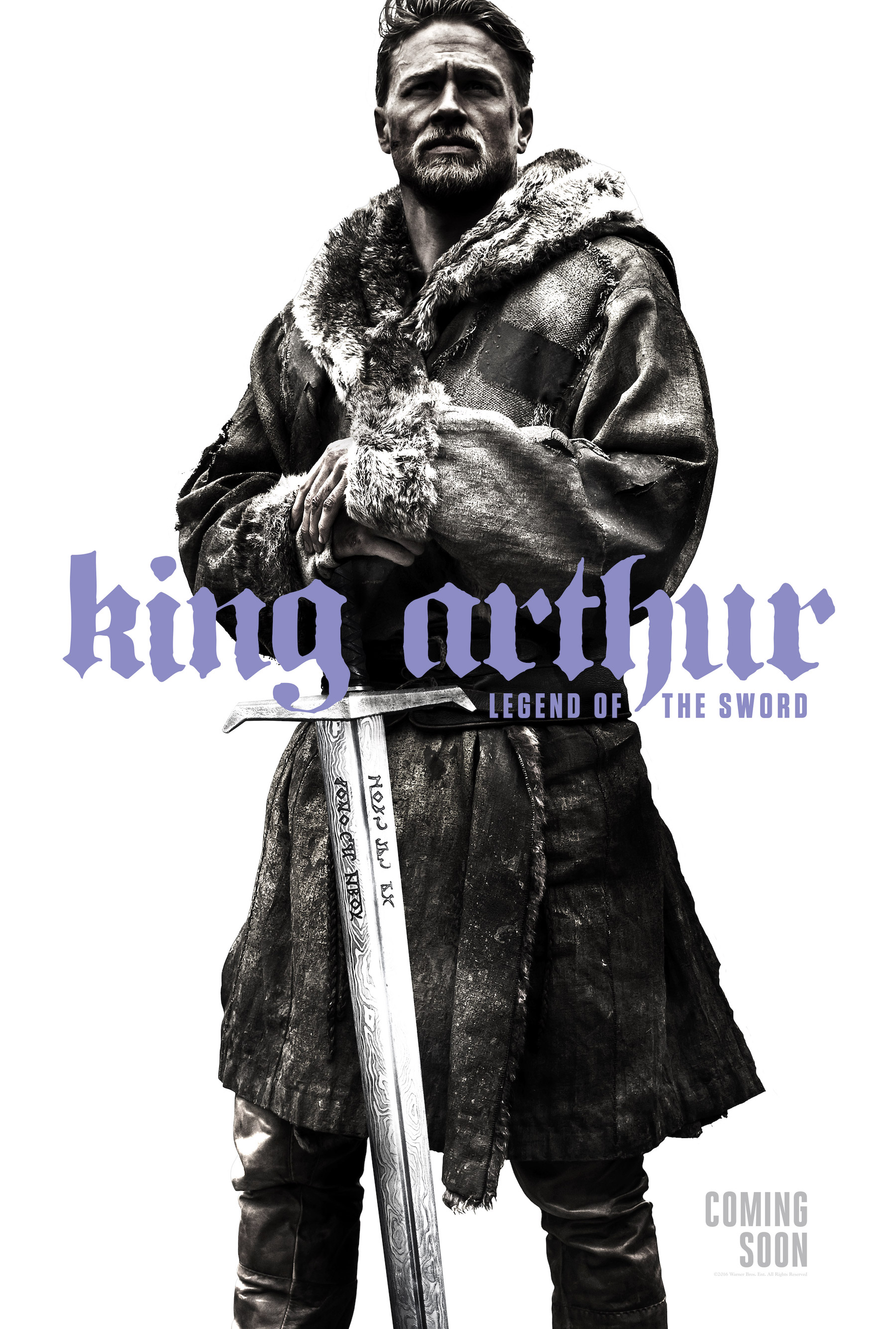 King Arthur: Legend of the Sword teaser poster with Charlie Hunnam