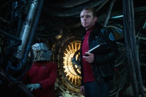 Star Trek Beyond Simon Pegg and Deep Roy