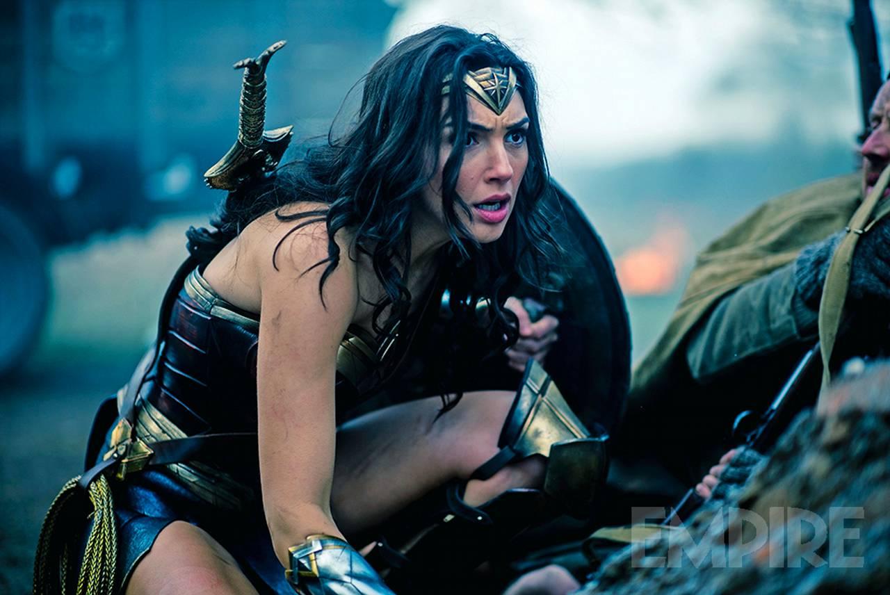wonder woman, gal gadot, dc, warner bros, justice league, empire