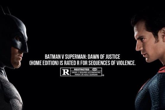 Batman v Superman Ultimate Edition rated R