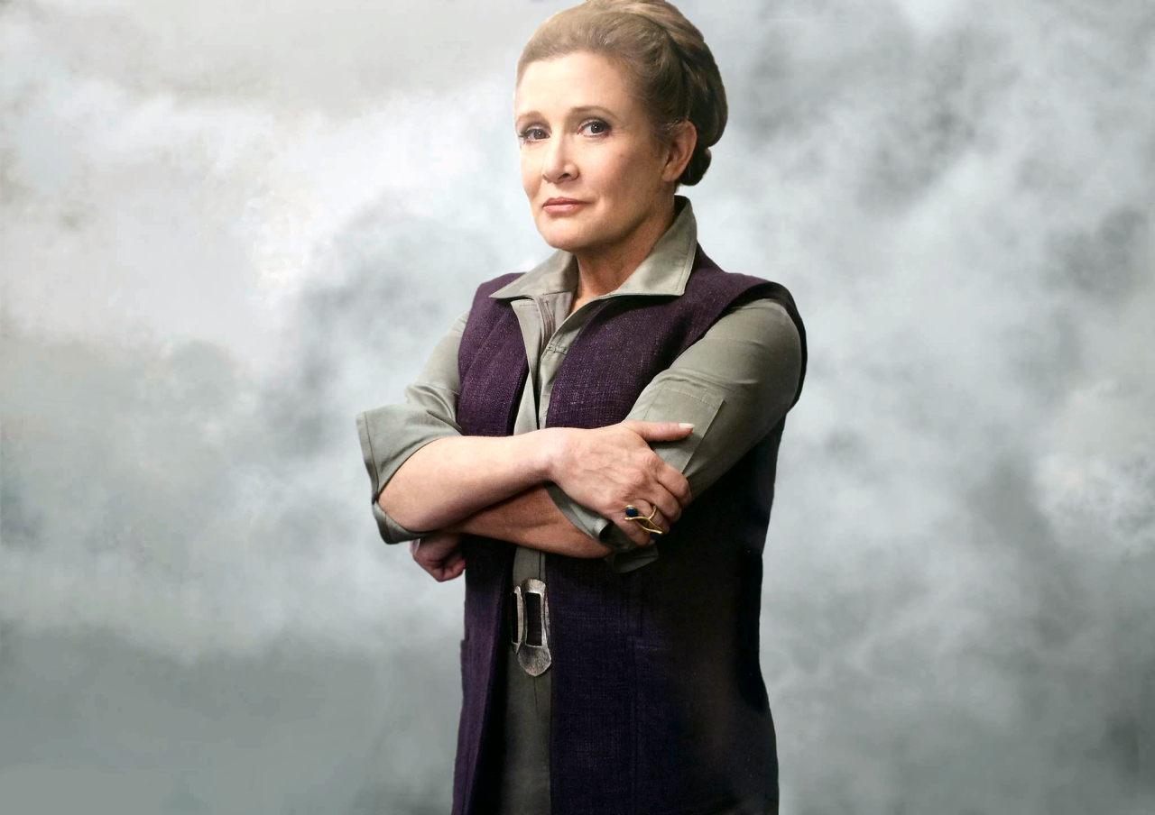 SWC: Carrie Fisher on Filming 'Star Wars' & Han's Funeral