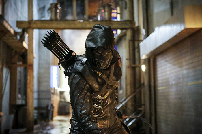 Arrow Season 5 close up of prometheus