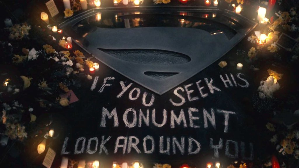 Batman v Superman if you seek his monument