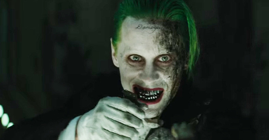 Jared Leto's Joker burned