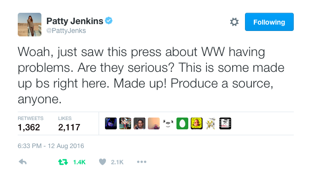 Patty Jenkins addresses Wonder Woman rumor 1