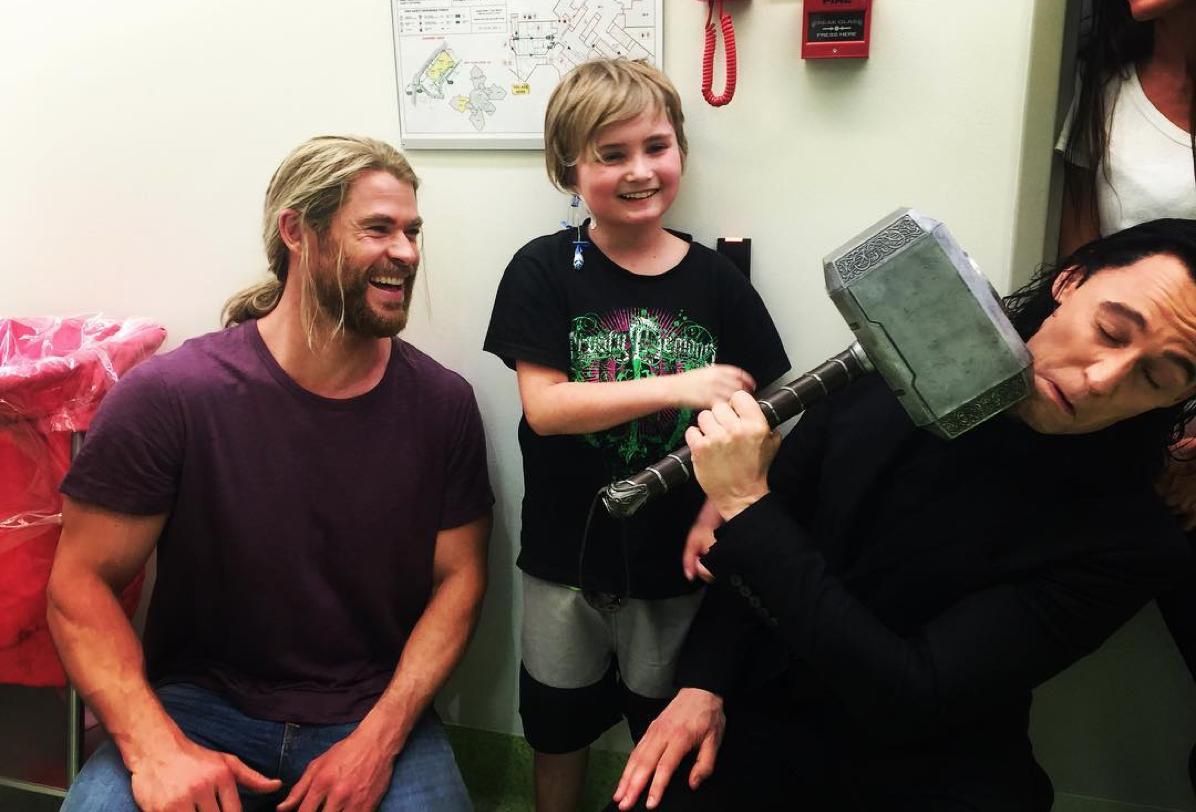Thor & Loki Visit Sick Kids at Lady Cilento Children's Hospital