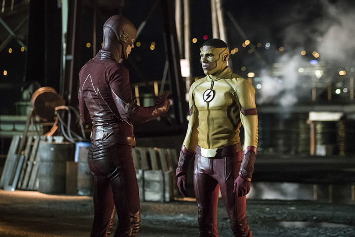 The Flash Season 3 kid flash and flash