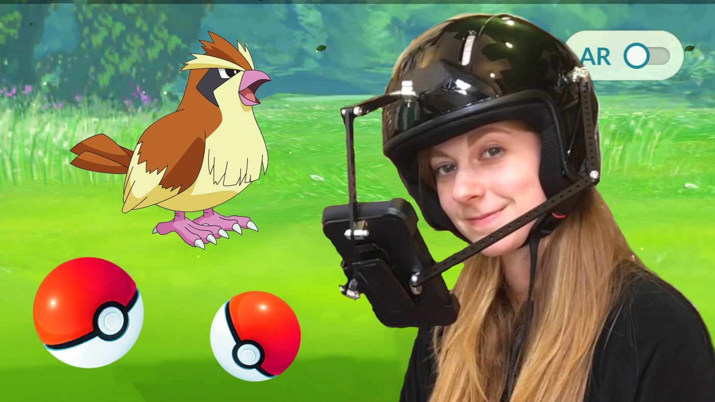WATCH: YouTuber Creates World's First 'Pokemon GO' Helmet